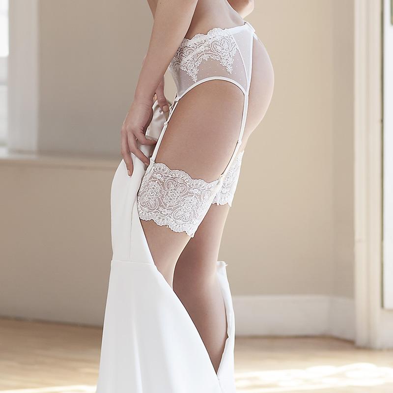 Media corta de novia con sillicona. Heritage