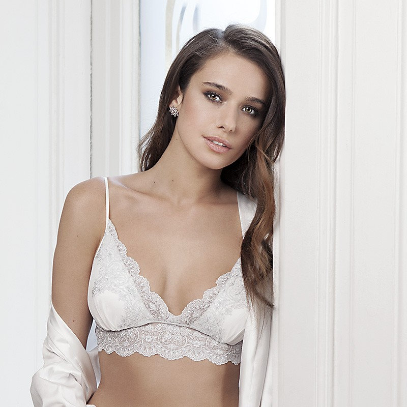 Top bralette con push up extraible. Heritage