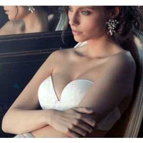 Sujetador bandeau doble push up de Novia. Heritage