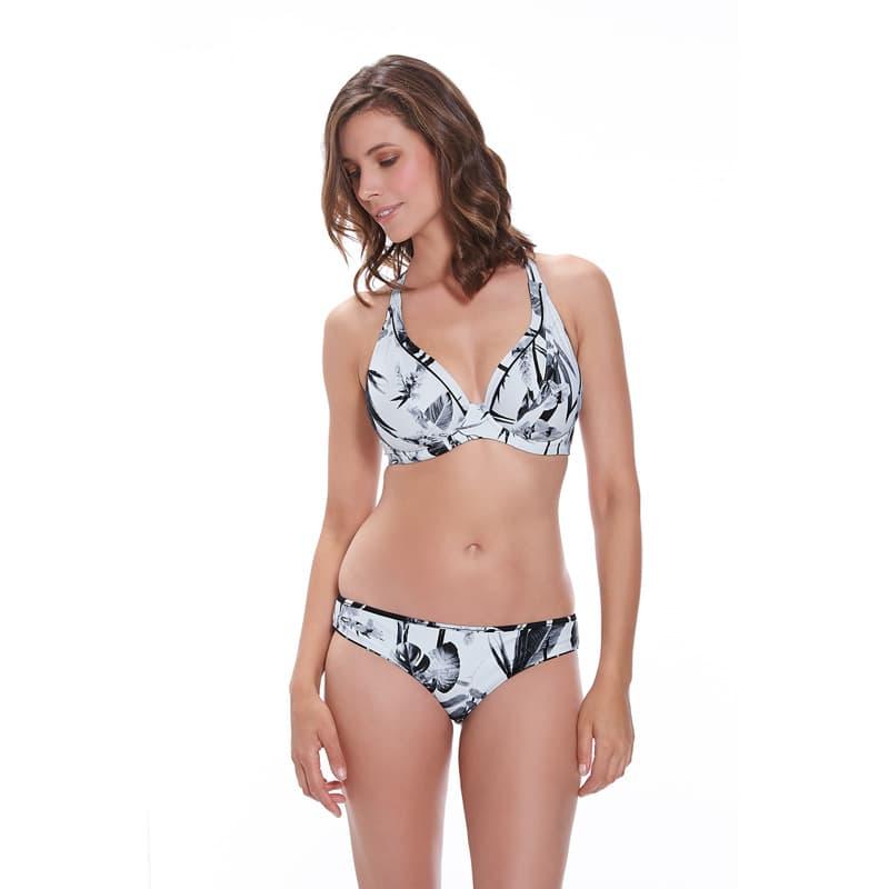 Sujetador bikini sin relleno con tirantes multiposición. Cocoa